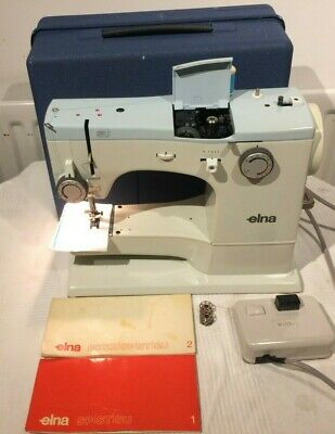 Elna SU(Super)with Multi Stitch decorative Programme Vintage Sewing Machine