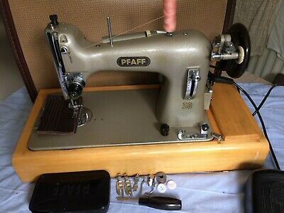 Pfaff 30 electric sewing machine with foot pedal & Leads and attachments