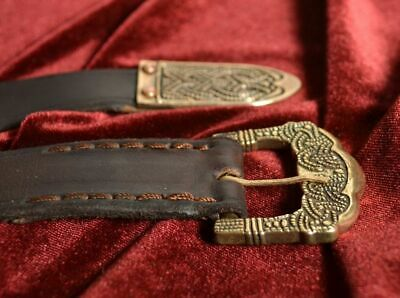 Viking Brown Belt with bronze elements, Gokstad, Norway