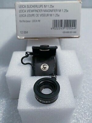 Leica viewfinder magnifier x1.25 Mint Boxed