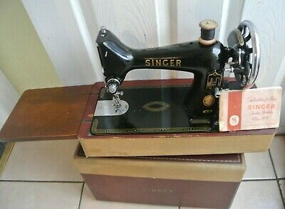 Vintage Singer 99K Sewing Machine with Instruction Manual