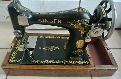 Vintage Singer sewing machine Model 128K with Rococo Decals
