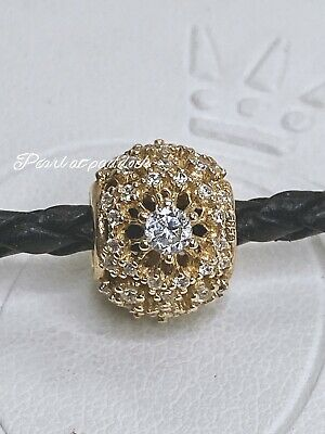 Authentic Pandora Inner Radiance 14kt Gold Charm W/ Gift Pouch