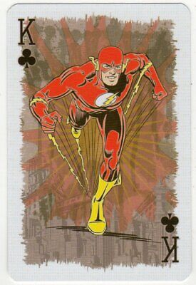 """Single Playing Card Depicting """"The Flash"""" from DC Comics """"Justic League"""""""