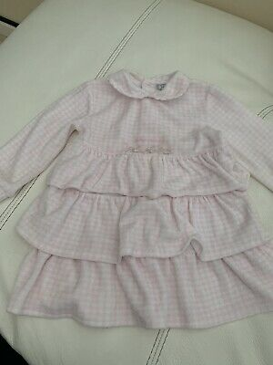Baby Girls Tutto Picollo Dress Pinks And White Velour Age 18 Months
