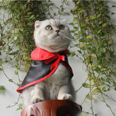 Popular Pet Dog Cat Cloak Halloween Party Cosplay in Vampire Costumes Prop CB