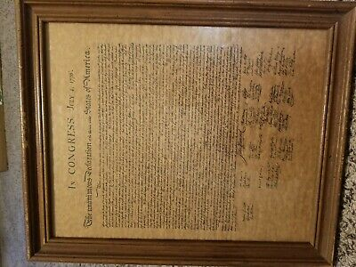 In congress july 4 1776 Picture And Frame