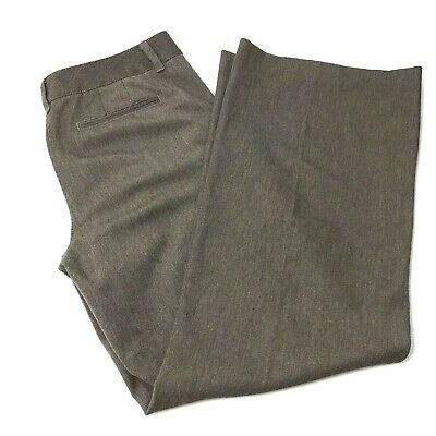 Talbots Pants Womens Size 10 Brown Gray Stretch Flare Career Slacks     K