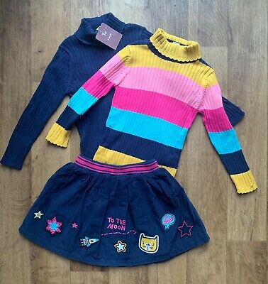 Bnwt Girls Skirt And Polo Neck Outfit Age  3-4