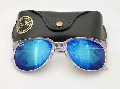 Vintage B&L Ray Ban Bausch & Lomb G15 Blue Mirror Cats 1000 Clear Frame w/Case