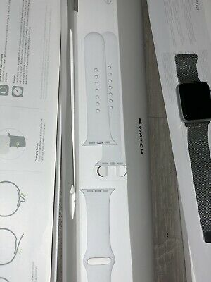 Apple iwatch 3 Series 38 mm With Milanese Loop Silver Strap