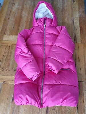 Next Pink Girls Hooded  Coat Age 8 128cms