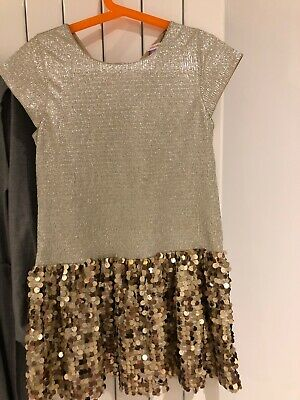 Immaculate Girls Gold John lewis party dress age 7
