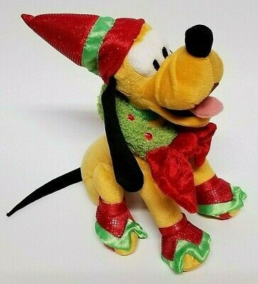 "Disney Parks Christmas Holiday 2006 Pluto Plush Toy (Height 8"")"