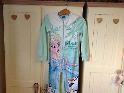 Girl's FROZEN All-In-One Pyjamas Age 9-10 Years