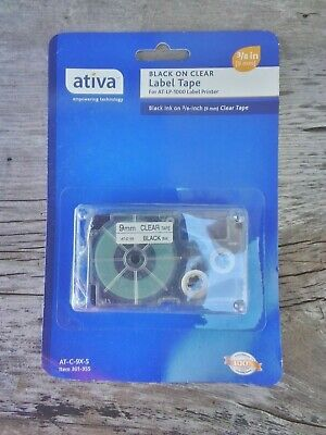 "Ativa 3//4"" 18mm Label Tape 301-516 AT-C-18WE-2S For AT-LP-1000 Printer"