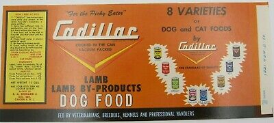 VTG NOS 8 Varieties of Dog/Cat Foods Lamb By Product Can Label
