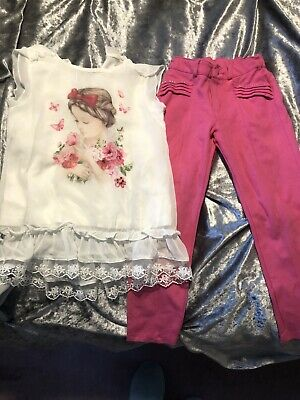 Mayoral Chiffon Top And Trouser Set Age 5 Girls