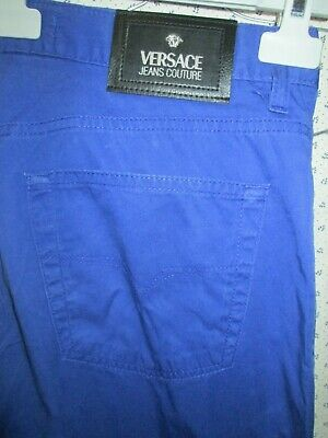 versace jeans couture blue trousers waist 15.5 inch 100% original