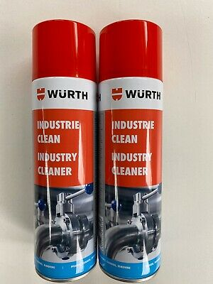 ***2 X 500ml WÜRTH INDUSTRY CLEANER REMOVES STICKER ADHESIVES /DISSOLVES DIRT**