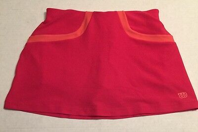 NWT Wilson Tennis Skirt Active Skort Skirt with Built in Shorts Ball Pocket Pink