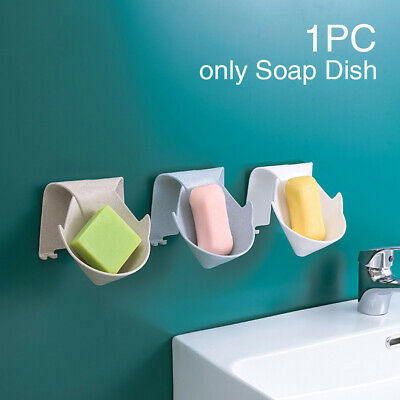 Drain Soap Holder Rack Self Adhesive Punch-free Wall Mount Space Saving Kitchen