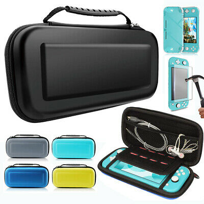 For Nintendo Switch Lite Travel Carrying Case Bag,Screen Protector,Hard Cover