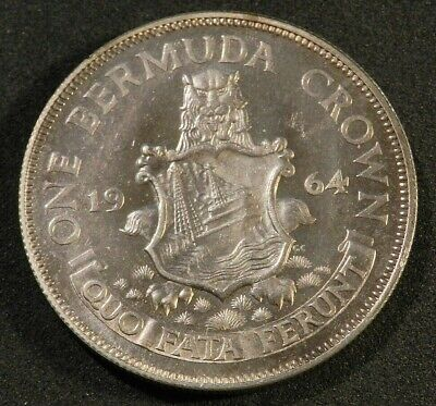 1964 Bermuda Silver Crown In Excellent Condition