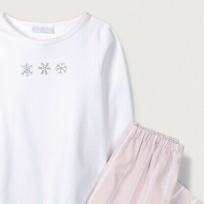 """""""The Little White Company"""" Christmas Snow Embroidered Pyjamas. 4-5 yrs RRP £26"""