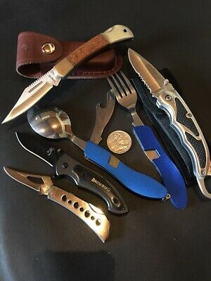 Bulk 5 Knife Set - Discount Factory 2nd Clearance Camping Folding Knives