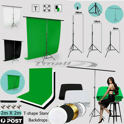 Photo Black White Green Backdrop Background/ T Type Support  Stand / 43IN GRIP