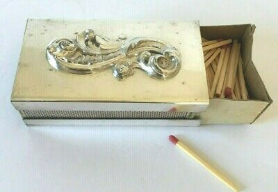 Antique Beautiful Webster Co. Ornate Silver  Large Matchbox Cover #EPCA P79