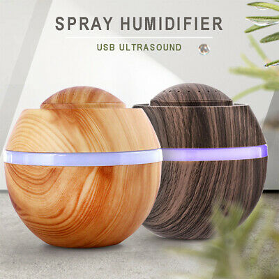 500ml LED USB Oil Ultrasonic Aroma Aromatherapy Diffuser Air Humidifier Purifier