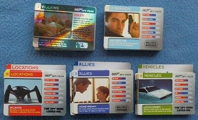 Roughly 250 007 SPY FILES TRADING CARDS