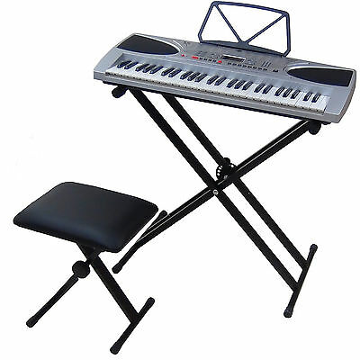 Clavier MK2069 Key Lighted LCD 54 Touches E-Piano Keyboard avec Support Banc