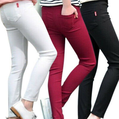 ✅Childrens Kids Girls Slim Skinny Trouser Pants Jogging Bottoms Age 3-8 Years✅