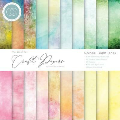Craft Consortium Double-Sided Paper Pad 6x6 40/Pkg Grunge-Light Tones