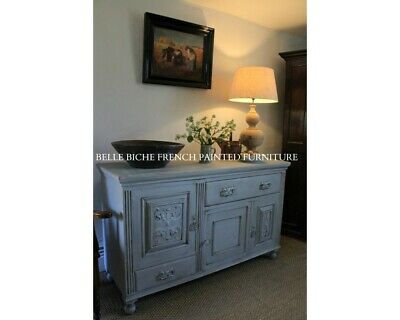 French Painted Sideboard Beautiful C.19th Arts & Crafts, Oak Sideboard Cabinet
