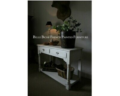 French Painted Two Tier Console - Lovely Rustic Style Hall / Sofa / Console