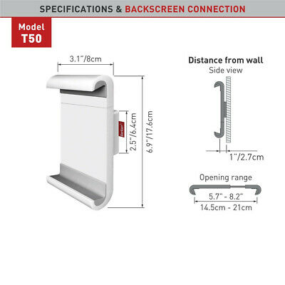 """Barkan T50 Tablet Wall Mount 7""""-12"""" Fixed Position White"""