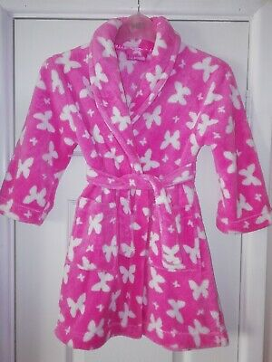 Girls BHS Pink Butterfly Dressing Gown Age 3-4 Years