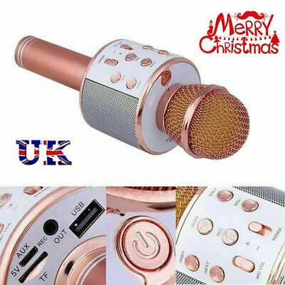 Handheld Wireless Bluetooth Karaoke Microphone USB KTV Player MIC Speaker