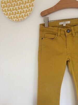 CARAMEL BABY AND CHILD Mustard Yellow Chinos Trousers Age 4 (2 3) Skinny Party