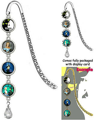 WICKED Bookmark With Pendant Book Mark The Musical Wizard of Oz Witches Witch