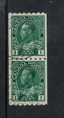 Canada #123 Extra Fine Used Coil Pair With North Bay RPO 3 Nov 6 1920 CDS Cancel