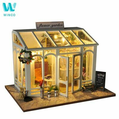 WINCO Wooden Diy Doll house Toy Miniature Box Puzzle Dollhouse Diy Kit Furniture