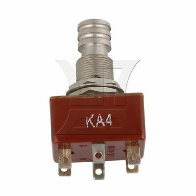 250V 12mm Toggle Switch Metal Head for Machine Tool Brown