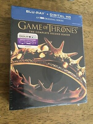 Game of Thrones: The Complete Second Season Blu-Ray + Digital HD Brand New