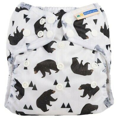 *New* Motherease Wizard Uno Onesize All In One Stay Dry Bear Bum 🐻