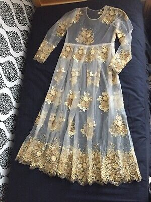 Gold And White Custom Made Dress